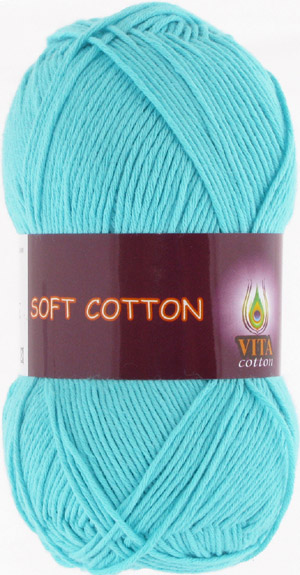 Vita cotton Soft cotton Светло голубая бирюза