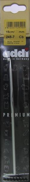 245-7/5-15 Addi Крючок вязальный, алюминий,  №5, 15 см.