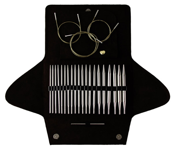 650-2/000 Система Адди-клик, BASIC - набор д/комбинированых круговых спиц, 10 разных размеров (от №3,5 - №10), 3 длины лески, 1 соед. элемент, 1 кулон адди-сердечко