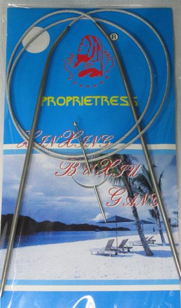 Спицы круговые на МЕТАЛЛИЧЕСКОМ тросике, с никелевым покрытием №5 Упаковка 10шт.