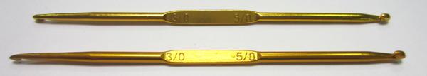 Крючок двухсторонний мет-й № 3,0/5,0 Упаковка 5шт.
