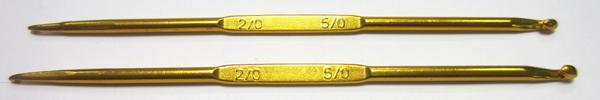 Крючок двухсторонний мет-й № 2,0/5,0 Упаковка 5шт.
