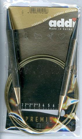 105-7-80/12-80 Addi спицы, круговые, супергладкие, никель, №12, 80 см.