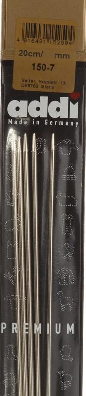 150-7/2.25-20 Addi спицы, чулочные, сталь, №2.25, 20 см. 5 шт