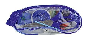4303 Набор швейный в прозрачном пластиковом кошельке на молнии