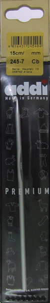 245-7/6-15 Addi Крючок вязальный, алюминий,  №6, 15 см.