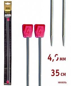 100-7/4.5-35 Addi спицы, ПРЯМЫЕ, никелированные, №4.5, 35 см. 2 шт.